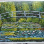 High Quality Hand Painted Oil Painting Repro Claude Monet Flowered