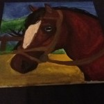 Horse Head Completed Painting Quaxykitkat