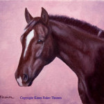 Horse Head Oil Painting Part Saddlebred Mare
