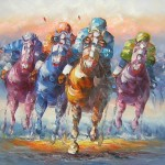 Horse Race Paintings Style Canvas Oil Painting Subjects Racing