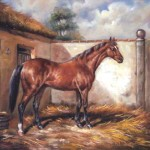 Horse Study Oil Painting Canvas Depicting Stallion