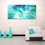 Life Gift From This Blue Abstract Canvas Was Created