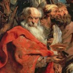 Magi Peter Paul Rubens Has Formed Black Stains Some Places