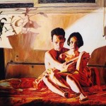 Man Woman Relationship Paintings Couple Love Hugging Oil Painting