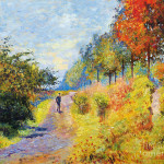 Monet Painting Sheltered Path Sur Les Traces Fine Art