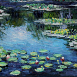 Monet Water Lilies Claude Painting