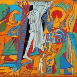 Oil Painting Reproduction Canvas Crucifixion Artist Picasso