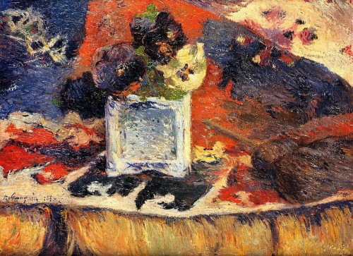 Oil Painting Reproduction Canvas Pansies Artist Gauguin