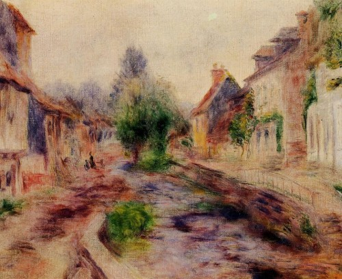 Oil Painting Reproduction Canvas The Village Artist Renoir