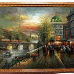 Old Paris Luxurious Oil Painting Famous Gallery Fineproart