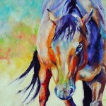 Original Colorful Horse Painting Mybunnies Etsy Sandra