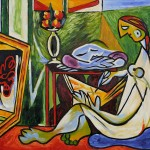 Pablo Picasso Muse Repro Oil Painting Cubist Art Home