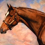 Painting Brown Horse Head And Shoulders John Berry