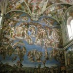Painting The Judgement Day Behind Altar Sistine Chapel