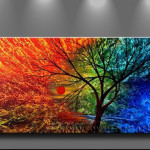 Paintings Abstract Tree Painting Back Product Page
