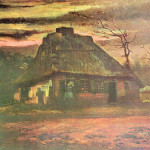 Straw Hut Dusk Reproduction Oil Painting