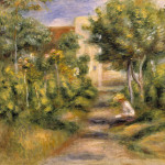 The Garden Cagnes Painting Fine Art Print