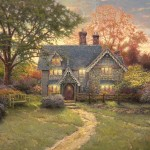 Thomas Kinkade Paintings Gingerbread Cottage Painting
