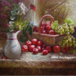 Tovar Dietrick Paintings Pair Apples Oil Painting