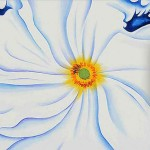 White Flower Oil Painting Georgia Keeffe