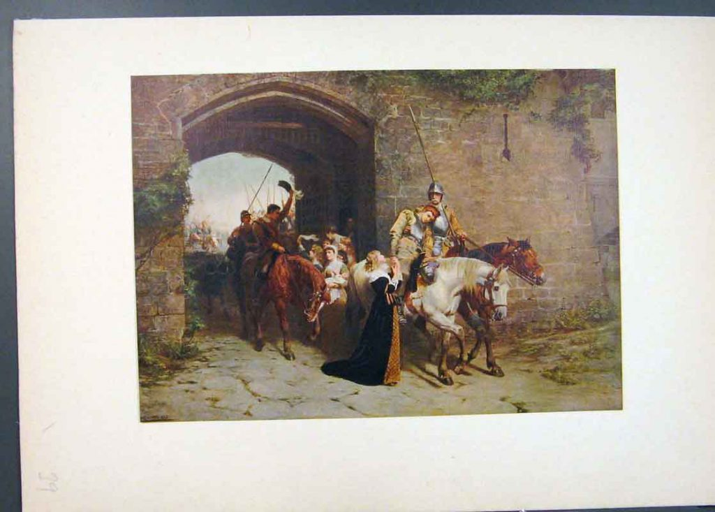 About Antique Print Sweethearts And Wives Famous Painting Waller