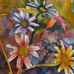 Abstract Flowers Paintings