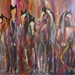 Abstract Horse Painting Cher Devereaux