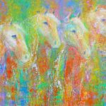 Abstract Horse Painting Colorado Contemporary Fine Artist