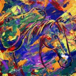 Abstract Horse Painting Equine Art Colorado Contemporary Artist