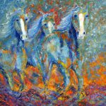 Abstract Horse Painting Equine Southwestern Art Colorado