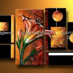 Abstract Oil Painting Paintings Canvas Wall Art Decor Set Lily Lilies