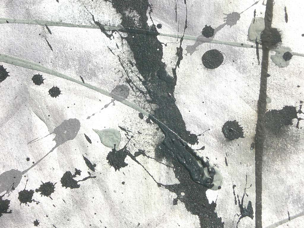 Abstract Painting Black And White Fields