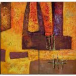 Abstract Paintings Canvas Set Modern Wall Art Inches Pcs
