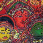 Acrylic Canvas Indian Mural Art Malini Menon Painting