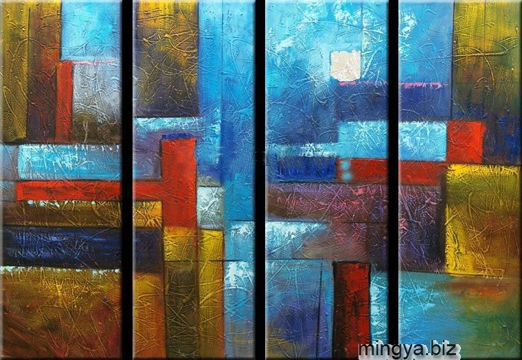 Acrylic Paintings Pcs Canvas Set Modern Abstract Fine Art Wall