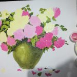 Adding Leaves And Vase