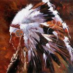 American Southwest Oil Painting Scb Abstract Native