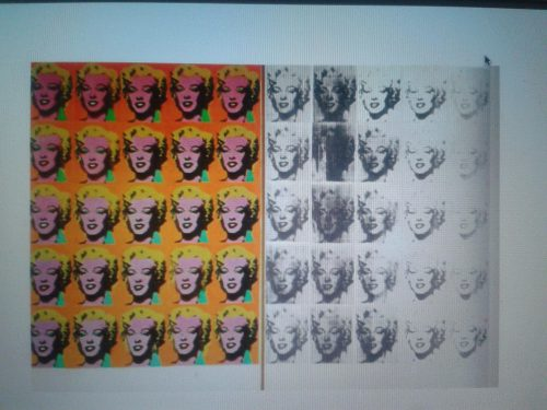Andy Warhol Marilyn Dipytch