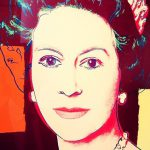 Andy Warhol Pop Art Portrayals Famous Faces Including The Queen