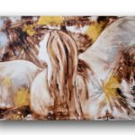 Angel Painting Canvas Abstract Elegant Contemporary