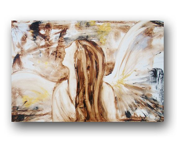 Angel Painting Canvas Abstract Heatherdaypaintings