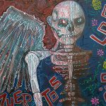 Angel Paintings Acrylics Canvas Day The Dead