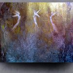 Angels Modern Fine Art Giclee Canvas Abstract Painting Gold One