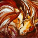 Art Equine Abstract Iii Artist Marcia Baldwin
