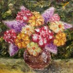 Art Gallery Flower Painting Vase Flowers Impressionism Oil