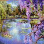 Art Monet Water Gardens Artist Patricia Lee Christensen