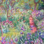 Art Painting Monet Garden Wallcoo