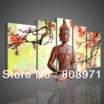 Art Religion Buddha Oil Painting Canvas Ornament Glass Paintings