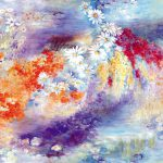 Art Style Flower Watercolor Painting Floral Pattern