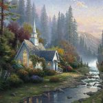 Art Thomas Kinkade Forest Chapel Paintings For Sale Online From